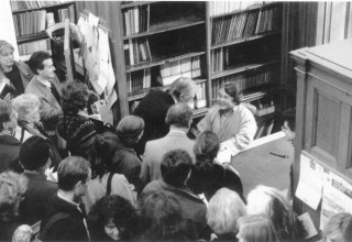 Sogyal Rinpoche signing books in London in early the 90s